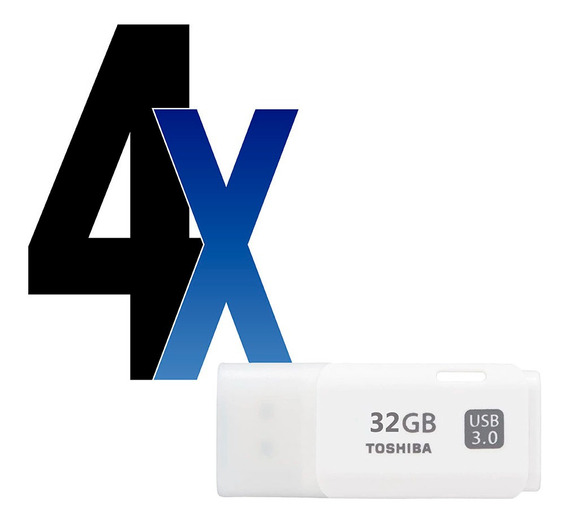 Pen Drive 32gb Usb Hayabusa 3.0 Toshiba Branco 4un