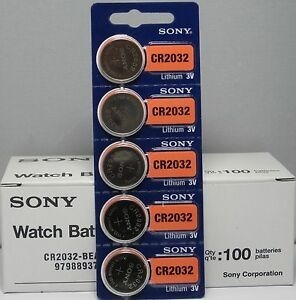 Bateria Cr2032-3v Da Marca Sony Caixa C/ 100 Unidades