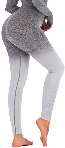 Running Girl Ombre Seamless Gimnasio Leggings Power Stretch