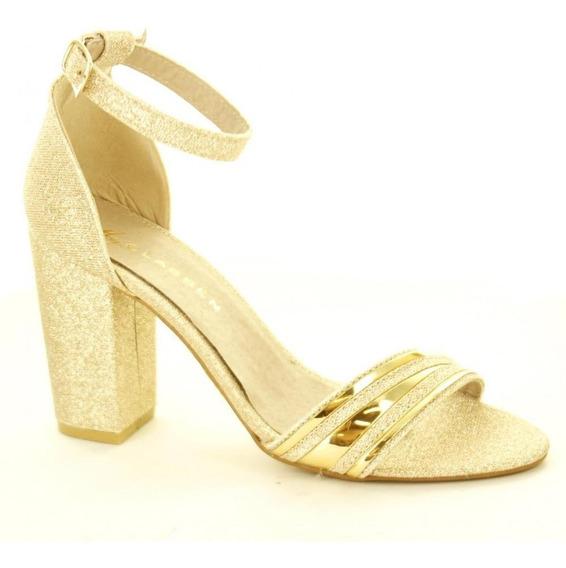 Zapatilla Para Mujer Clasben 160503-040547 Color Oro