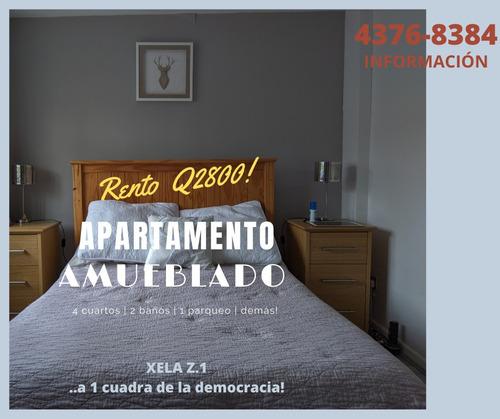 Alquilo Apartamento Amueblado, Xela Z.1