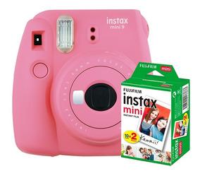 Câmera Instantânea Instax Fujifilm Mini 9 Flamingo+filme 20