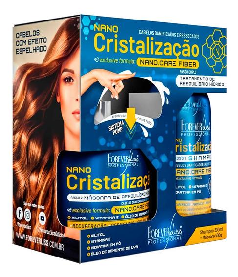 Nano Cristalização Capilar Forever Liss Shampoo + Máscara