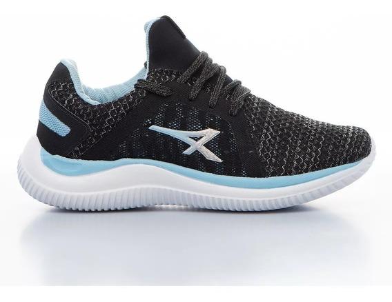Athix Zapatillas Running Mujer Fit Negro - Celeste