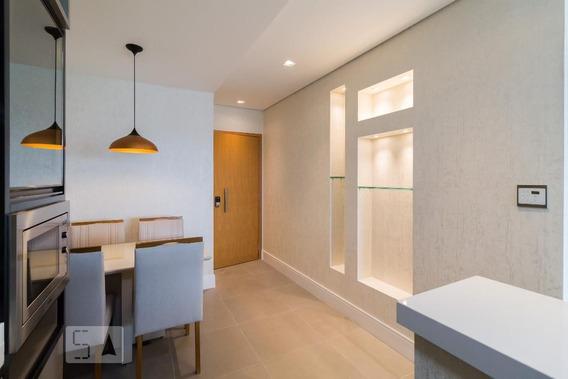 Apartamento No 21º Andar Mobiliado Com 1 Dormitório E 2 Garagens - Id: 892973666 - 273666