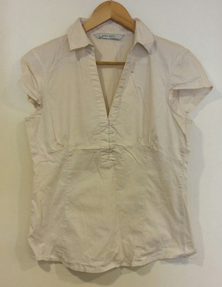 Camisa Nude Zara Basic Talle M/2