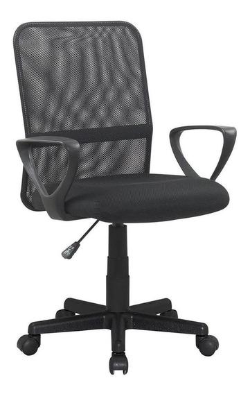 Cadeira de escritório Trevalla CDE-04-1 ergonômica preta con estofado do malha
