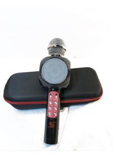 Microfono Con Parlante Con Usb Karaoke Negro Senon Q10