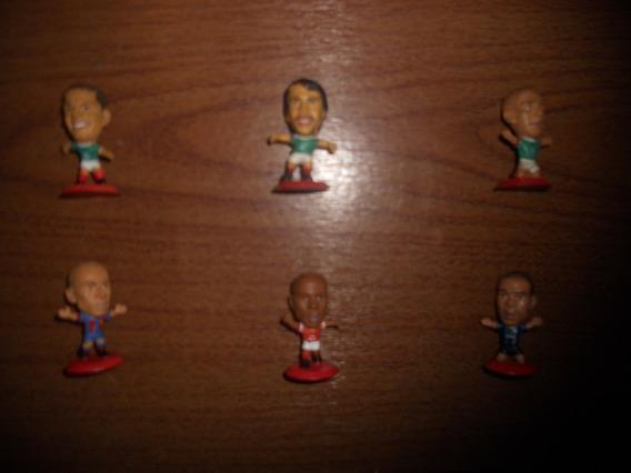 Lote De 6 Figuras De Futbolistas Cabezones De Coca Cola