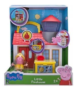 Peppa Pig Playset Con Figura Accesorios Bomberos Y Hospital