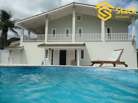 Excelente Casa À Venda No Condomínio Residencial Mar Verde Em Caraguatatuba Próximo À Praia. 800 M² De Terreno E 600 M² De Área Construída, 7 Dormitór - Ca01381