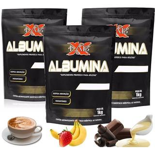 Kit - 3x Albumina 1kg Xlab Vários Sabores 100% Original