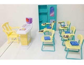 Mueble Casa De Muñecas Barbie Aula Salon Clases Envio Gratis