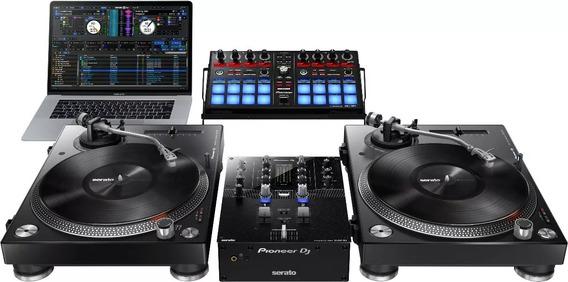 Mixer Pioneer Dj Djm-s3 De 2 Canais Para Serato Dj