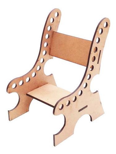 Imagem 1 de 2 de 40 Cadeira Cadeirinha Porta Lapis Mdf Lembrancinha Genitori