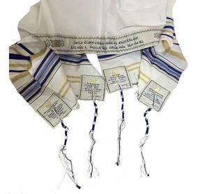 Talit Messiânico+bolsa+kipá +aula Explicativa-import.israel