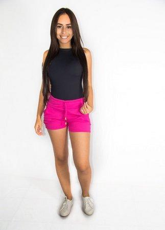Shorts Ribano Tipo Moletom Moda Coloridos Atacado