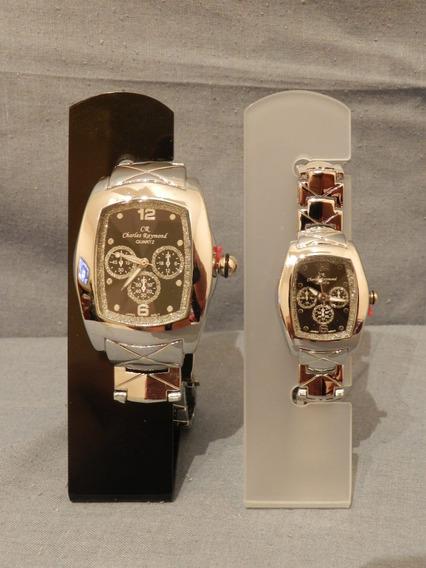 Relógio Charles Raymond Mascul/femin Preto & Strass