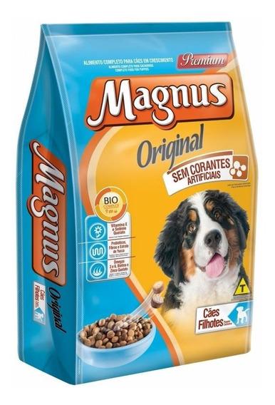 Ração Magnus Original 15 Kg Carne Sem Corantes Filhotes