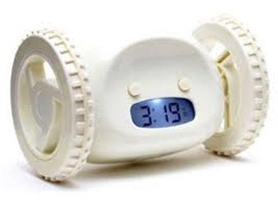 Relogio Despertador Digital Led Com Rodas Corre Clocky Fugit