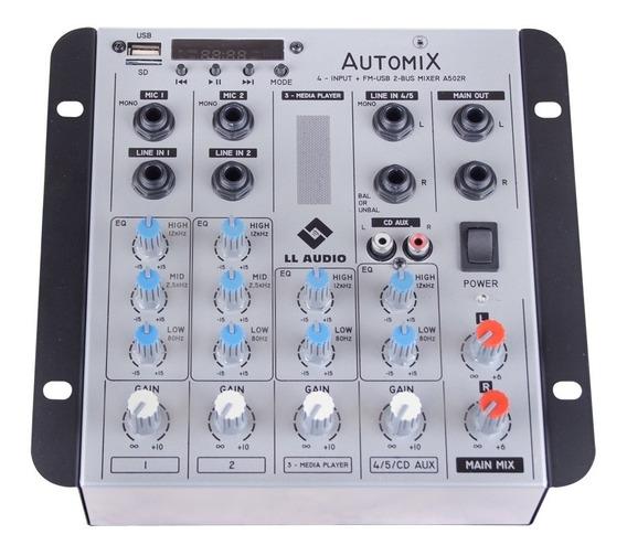 Mesas De Som Linha Automix Bt Usb Rec 12v A502r Bt Ll Audio
