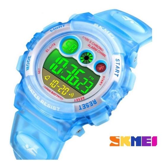 Relogio Infantil Skmei Digital Azul Relógio Infantil Barato