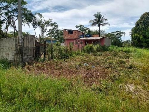 Terreno No Bairro Luizamar Lado Serra, Em Itanhaém -  7534