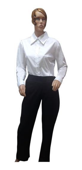 Camisa De Vestir Hombre Mujer Uniforme Gastronómico T. 38-48