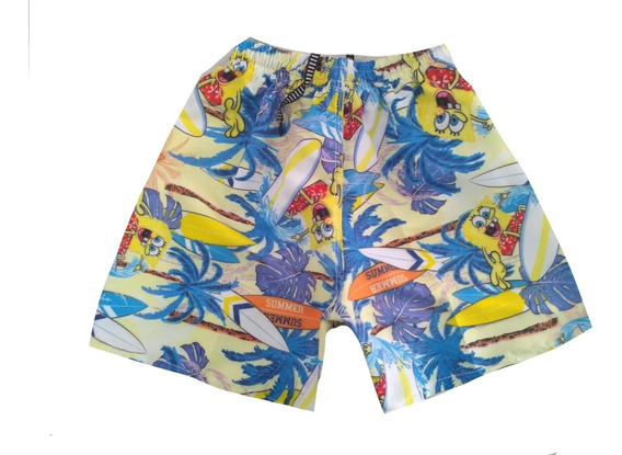 Kit 50 Shorts Tactel Infantil Menino Mauricinho Praia Verão
