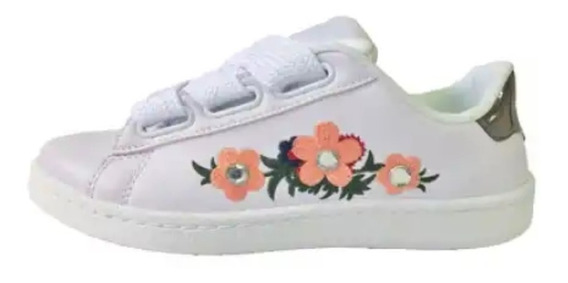 Zapatillas Dama Nenas Blancas Bordadas Strass Moda 35/40