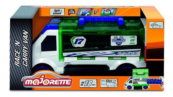 Majorette Camión Porta 18 Autos Diecast Sonido Auto Incluido