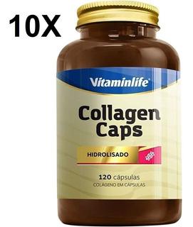 Kit 10x Collagen Caps Colágeno - 120 Cápsulas - Vitaminlife