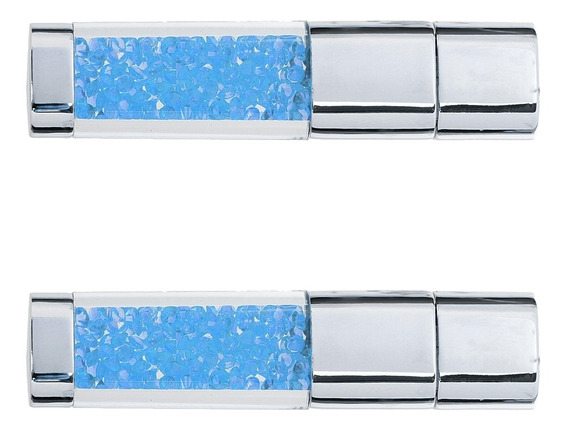 2x Metal Cristal 32gb + 16gb Usb 2.0 Flash Distância Memória