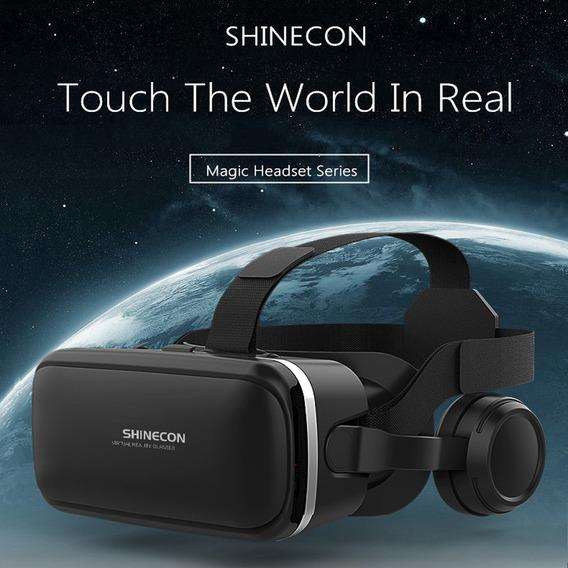 Realidade Virtual Shinecon 6.0 360 Graus Stereo 3d Óculos Ca