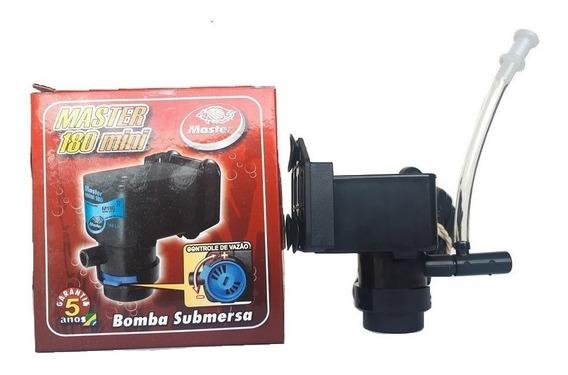 Bomba Submersa Master Mini 180l/h Aquários Fontes Ventilador