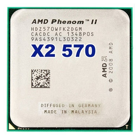 Processador Amd Phenom Ii X2 570 Am3 3,5ghz 6mb+1mb 80w