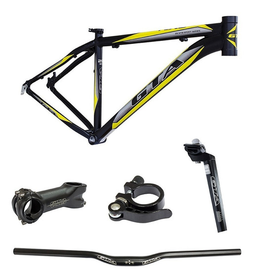 Quadro Bike Gta Aro 29 Guidão Mesa Canote Tamanho M 17 19 21