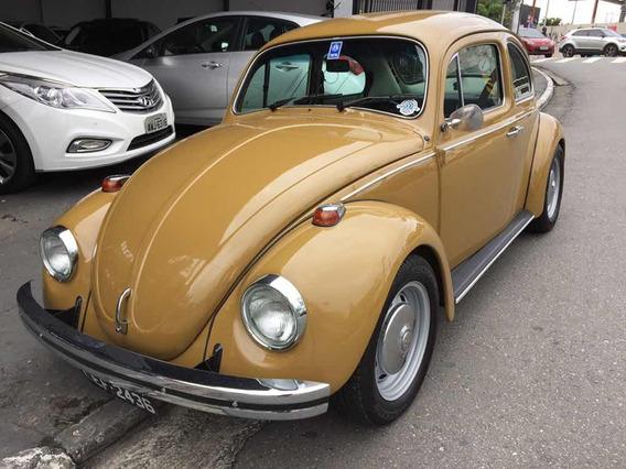 Volkswagen Fusca 1300 L 1976 Marron Placa Preta Colecionador