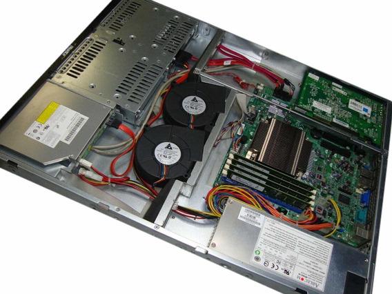 Servidor Supermicro Rack 1u Xeon 32gb Hd 2tb (2x1t) Trilhos