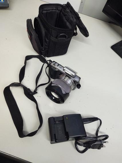 Câmera Digital Nex-c3 Sony (pouquíssimo Uso) Completa