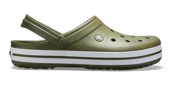 Crocs Originales Crocband Verde Militar Unisex |hombre Mujer