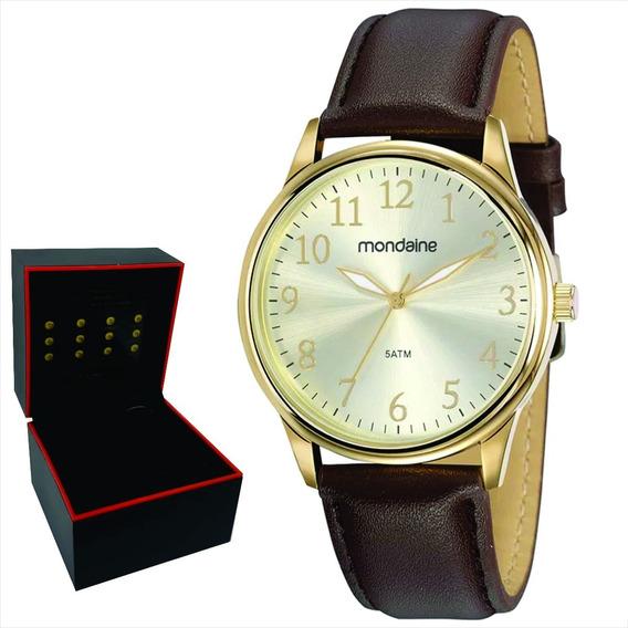 Relógio Mondaine Masculino Original Garantia Nf 83470gpmvdh1