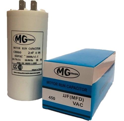Capacitor De Marcha Aire Acondicionado Mg 2 Mf 450v 50/60hz