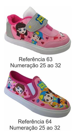 Kit 2 Pares Tênis Infantil Menina Luccas Neto Gi Aventureira