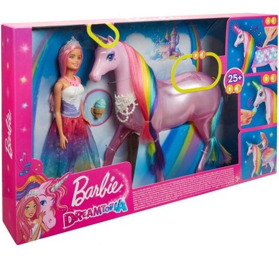 Barbie Magic Touch Unicornio E Boneca - Mattel Fxt26