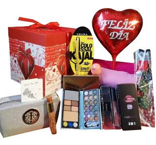 Kit Cosméticos Maquillaje Mujer Cumpleaños Amor Con Envío