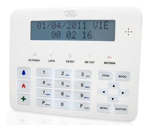 Imagen 1 de 5 de Teclado Display Lcd Asistencia Por Voz Tlcd Mpxh X28 Alarmas