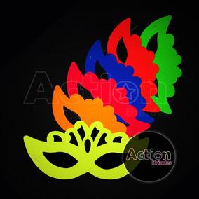Máscara Fluorescente Coroa Brilha Na Luz Negra - Kit 24 Un