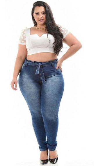 Calça Jeans Levanta Bumbum Plus Size Clochard Analice