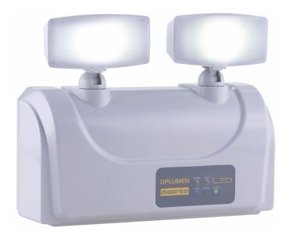 Luminária Luz Emergência Led 2 Faróis 3000 Lumens Diponto